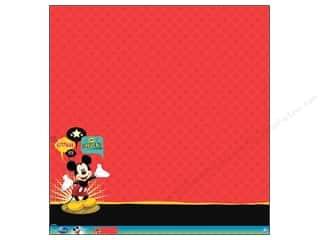 EK 12 x 12 in. Paper Disney Mickey Mouse Glitter Thermography (12 sheets)