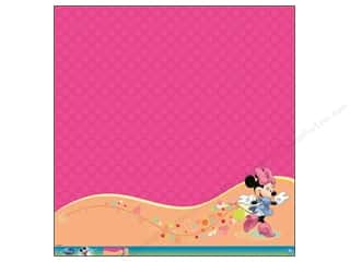 scrapbooking & paper crafts: EK 12 x 12 in. Paper Disney Minnie Mouse Glitter Thermography (12 sheets)