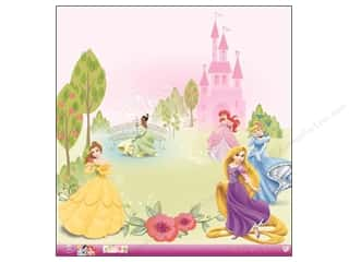 Clearance: EK 12 x 12 in. Paper Disney Princess Multi Glitter (12 sheets)