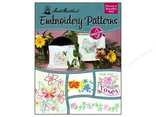 Aunt Martha's Iron On Transfer Book #402 Flowers & Butterflies
