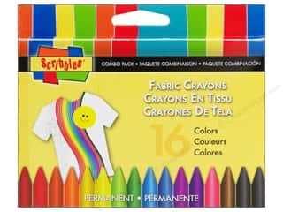 craft & hobbies: Scribbles Fabric Crayons 16 pc. Combo Pack