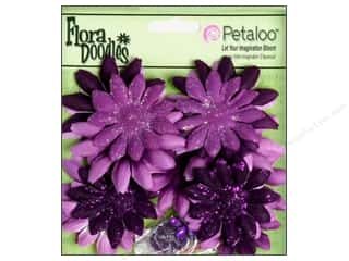 Petaloo FloraDoodles Daisy Layers Small Plum