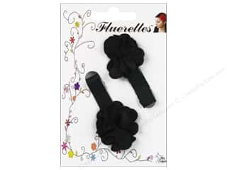 Mark Richards Fluerettes Flower Barrette Black