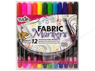 craft & hobbies: Tulip Fabric Marker Fine Tip Astd 12pc