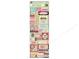 scrapbooking & paper crafts: K & Company Stickers Kelly Panacci Blossom Embossed