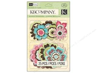 stickers: K&Company Layered Accents Kelly Panacci Blossom
