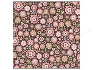 cardstock Iridescent: K&Company 12 x 12 in. Paper Kelly Panacci Blossom Collection Flowers Glitter Brown (12 sheets)