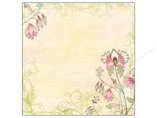 cardstock Iridescent: K&Company 12 x 12 in. Paper Kelly Panacci Blossom Collection Glitter Floral (12 sheets)