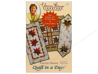"Quilt In A Day Autumn Leaves Pattern with 4.5"" On Point Ruler"