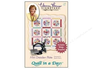 Quilt In A Day Mini Dresden Plate Pattern & Template