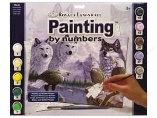 Clearance Royal Paint Artist Acrylic: Royal Paint By Number Kit Large Wolves
