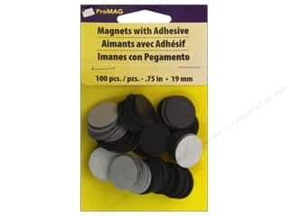 magnet: ProMag 3/4 in. Round Magnet with Adhesive 100 pc.