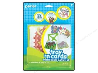 craft & hobbies: Perler Tray 'n Cards Pattern Kit - Classic Beads
