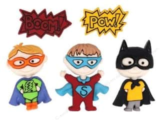 craft & hobbies: Jesse James Dress It Up Embellishments Be My Super Hero