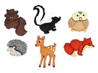 craft & hobbies: Jesse James Embellishments - Forest Babies