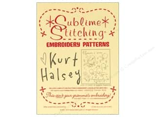 Sublime Stitching: Sublime Stitching Embroidery Transfers Kurt Halsey