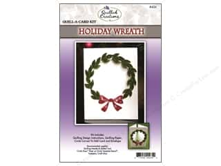 Projects & Kits: Quilled Creations Quilling Kit Quill-A-Card Holiday Wreath