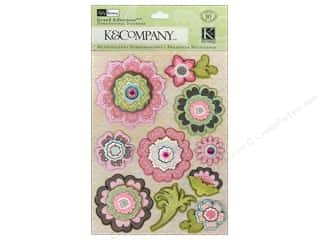 theme stickers  floral: K&Company Grand Adhesions Kelly Panacci Blossom Floral