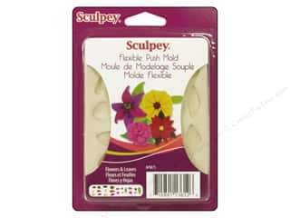 Sculpey Flexible Push Molds : Sculpey Flexible Push Mold Flower & Leaves (2 sets)