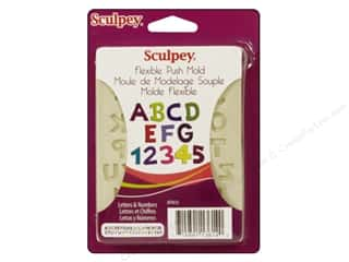 Sculpey Flexible Push Molds : Sculpey Flexible Push Mold Letter & Numbers (2 sets)