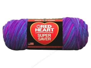 yarn & needlework: Red Heart Super Saver Yarn 236 yd. #3931 Grape Fizz