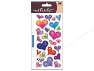 stickers: EK Sticko Stickers Sparkle Hearts