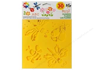 Spring Paper: Delta Stencil Mania Value Pack Flowers 3 pc.