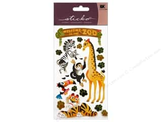 theme stickers: EK Sticko Stickers Welcome To The Zoo