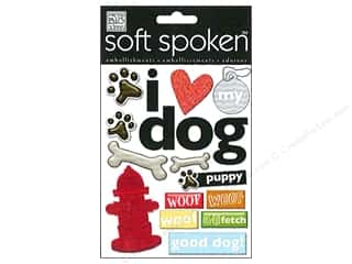 Me & My Big Ideas Soft Spoken Stickers I Heart My Dog Paw Prints