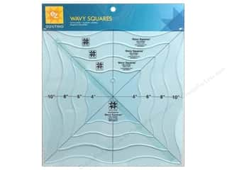Weekly Specials Simplicity: EZ Quilting Wavy Squares Acrylic Templates by Gina Reddin