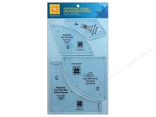 Weekly Specials Simplicity: EZ Quilting Five Point Star / Drunkard's Path Acrylic Templates