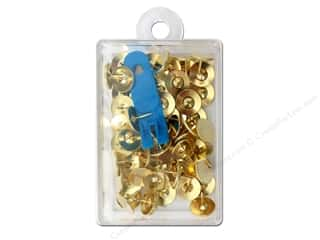 Clover Thumb Tacks 60 pc. Brass with Remover