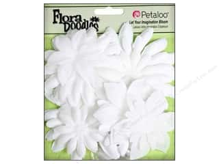 Petaloo FloraDoodles Daisy Layers Large Glitter White