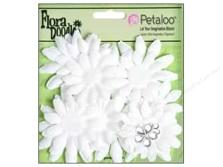Petaloo FloraDoodles Daisy Layers Small Glitter White