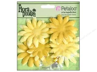 Petaloo FloraDoodles Daisy Layers Small Glitter Yellow