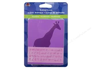 Plaid Paper Stencil 3 in. Animal Icons