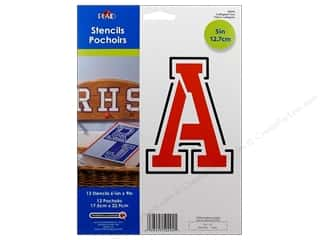 Plaid Letter Stencils Collegiate 5 in.