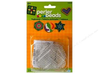 beading & jewelry making supplies: Perler Small Basic Shapes Clear Pegboards 5 pc.
