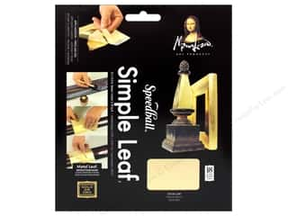craft & hobbies: Mona Lisa Simple Metal Leaf Sheets 18pc Gold