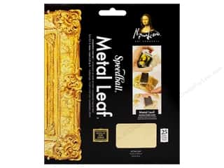 craft & hobbies: Mona Lisa Metal Leaf Sheet Composition Gold 25pc
