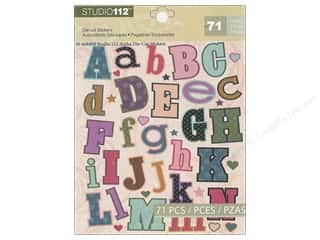 K & Company Stickers Studio 112 Die Cut Alphabet Green Pink