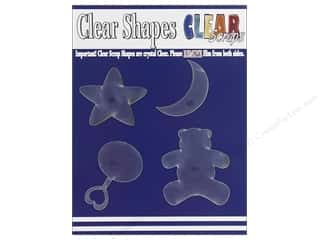 resin: Clear Scraps Clear Shapes 4 pc. Baby