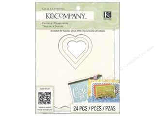 die cuts: K&Company Card & Envelopes Beyond Postmarks Ivory & White Die Cut