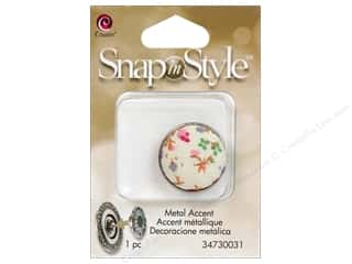 Clearance Cousin Snap In Style Accent: Cousin Snap In Style Accent Metal Floral 1