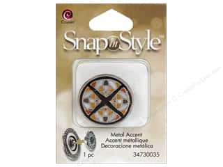 beading & jewelry making supplies: Cousin Snap In Style Accent Metal Mosaic
