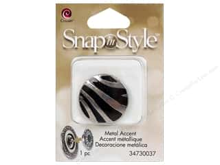 Clearance Cousin Snap In Style Accent: Cousin Snap In Style Accent Metal Zebra