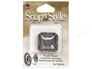 Clearance Cousin Snap In Style Accent: Cousin Snap In Style Accent Metal Facet Square