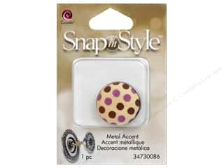 beading & jewelry making supplies: Cousin Snap In Style Accent Metal Polka Dot