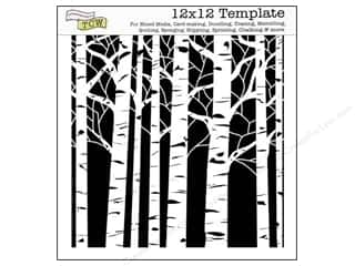 ruler: The Crafter's Workshop Template 12 x 12 in. Aspen Trees