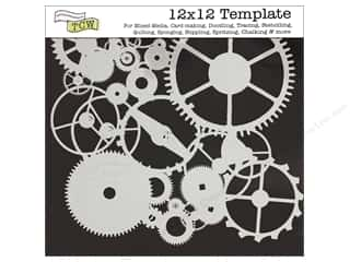 Clearance The Crafters Workshop Template: The Crafter's Workshop Template 12 x 12 in. Gears